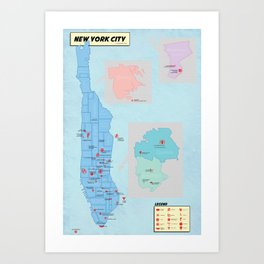 New York City- A Comic Book Tour Art Print