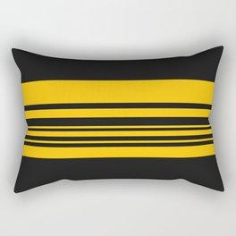Yellow stripes on black Rectangular Pillow