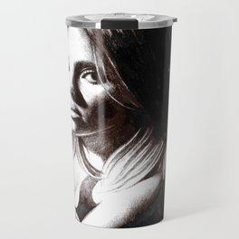 Beauty Model Smoking Sketch Travel Mug