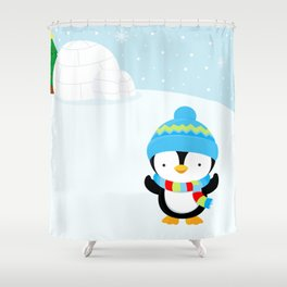 Cute penguin boy #1 Shower Curtain