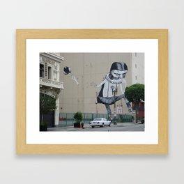 Street Art Downtown Los Angeles  Framed Art Print