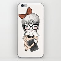 bookworm iPhone & iPod Skins featuring BOOKWORM by Kelli Murray