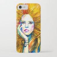 zodiac iPhone & iPod Cases featuring Leo Zodiac by Slaveika Aladjova