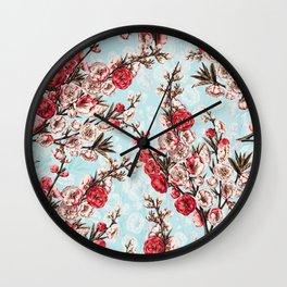 Flower Garden Wall Clock