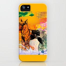 Schnauzer pop art iPhone Case