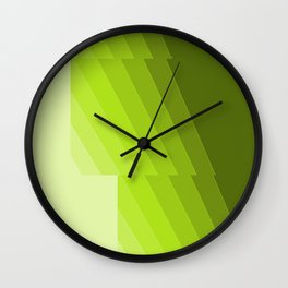 Gradient Green repetition Wall Clock