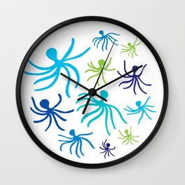 Octopus dance Wall Clock