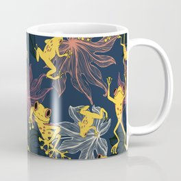 Happy Yellow Frogs Coffee Mug