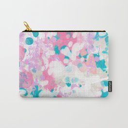 Rhea - abstract minimal painting pink and blue gender neutral nursery Carry-All Pouch