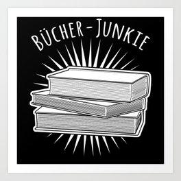 Read A Book - Books Junkie Nerd Saying Art Print