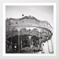 Carousel de Paris Art Print