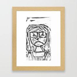 Angry Framed Art Print