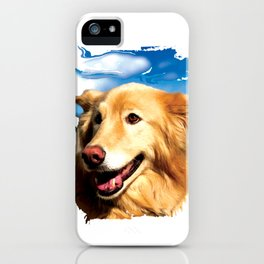 Beautiful Collie-Mix Dog, Halle iPhone Case