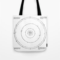 solar system Tote Bags featuring Solar System by Public Demesne