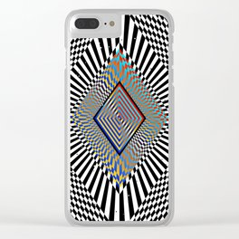 Matrix processor. Holographic hypnotic pattern. Clear iPhone Case