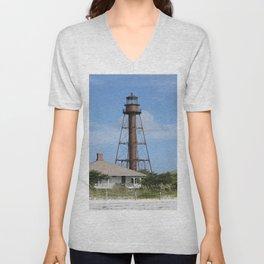 Sanibel Island Light Unisex V-Neck