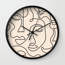 Abstract Single Line Face  Wall Clock
