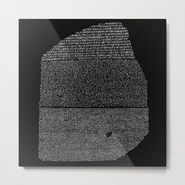 Pierre de Rosette  / Rosetta Stone Metal Print