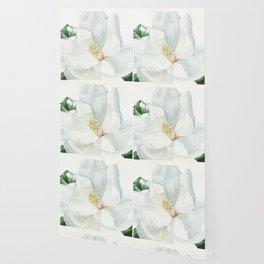 Watercolor Magnolia Blossom Wallpaper