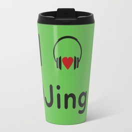 I heart DJing Travel Mug