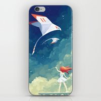freeminds iPhone & iPod Skins featuring Flyby by Freeminds