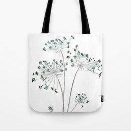wild carrot watercolor Tote Bag