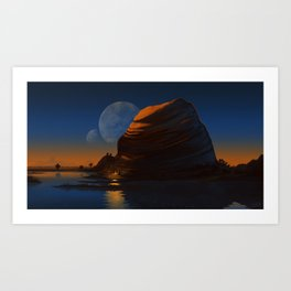 Moons Art Print