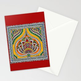 Lotus on Paan Stationery Cards