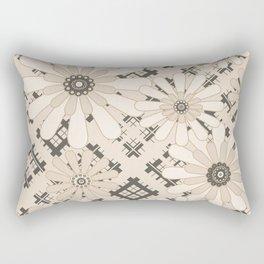 Beige flowers , flowers , plaid Rectangular Pillow