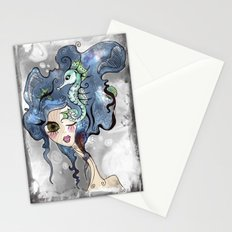 the deep girl-1 Stationery Cards