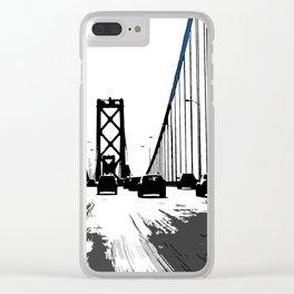 Drive on Bay Bridge Clear iPhone Case