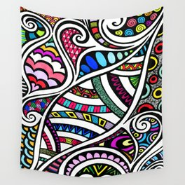 Colourful Curling Wall Tapestry