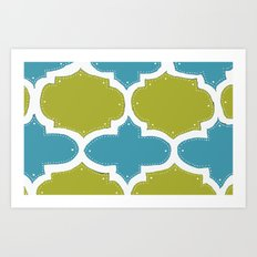 Morocco Blue & Gold Art Print