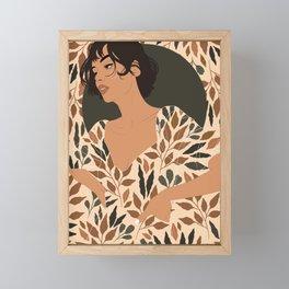 Fall Lover (Beige) Framed Mini Art Print
