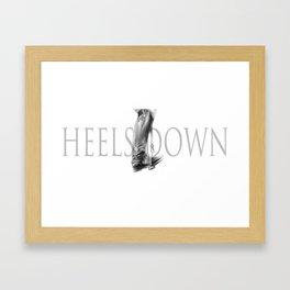 Heels down Framed Art Print