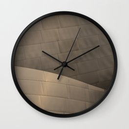 Architectural abstract of the home of the LA Philharmonic. Architect: Frank Gehry Wall Clock