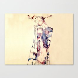 Purple Lady Canvas Print