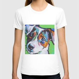 Fun JACK RUSSELL TERRIER Dog bright colorful Pop Art T-shirt