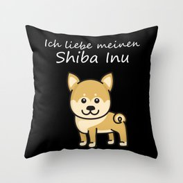 Shiba Inu Shirt for Shiba Inue Dog Lovers Throw Pillow