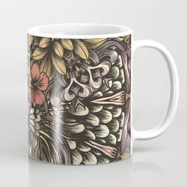 Tiger and flowers Coffee Mug