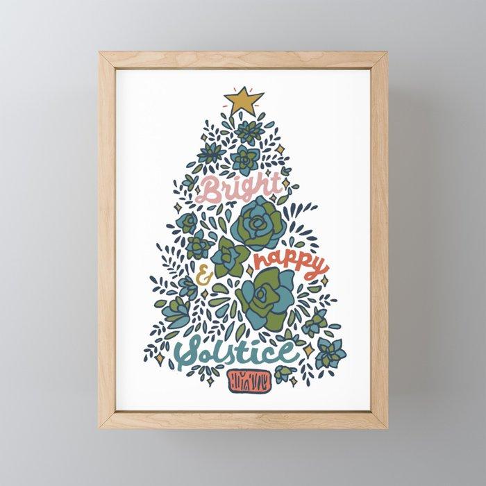 Bright and Happy Solstice Framed Mini Art Print