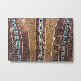 Mansi folk pattern Metal Print