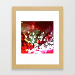 H.E.L.L.O. / red Framed Art Print