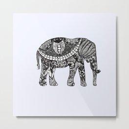 Zen Elephant Metal Print