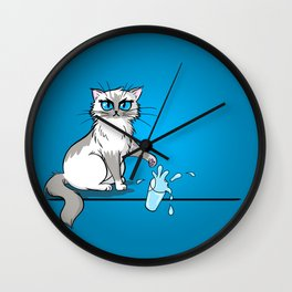 Cats are a**holes Wall Clock