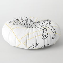 Goat in the mountains Floor Pillow