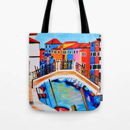 Colors of Venice Italy Tote Bag