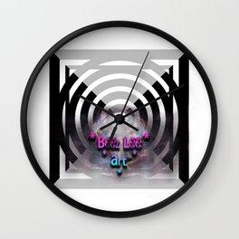"""Beez Lee Art : Light Bridge Ascension"" Wall Clock"