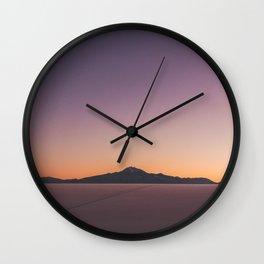 Sunrise over Salar De Uyuni Wall Clock