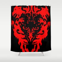 lions Shower Curtains featuring Lions by Littlefox